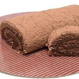 Rocambole de Chocolate - Fatia