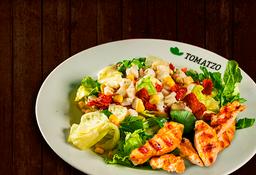 Salada da casa + Filés de frango + bebida