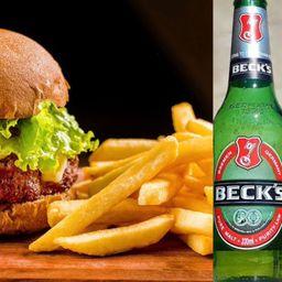 Inverso Burger + Beck's + Batata Frita