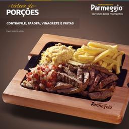 Porção Contra Filé + Vinagrete + Farofa + Fritas