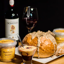 Combo 2 - panhoca italiana + vinho tinto + amor no baldinho