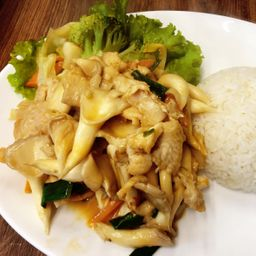 平菇牛肉饭 Combo 24