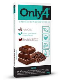 Chocolate Only 4 Com Nibs De Cacau - 80g