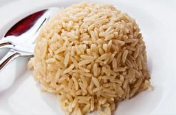Porção de arroz integral