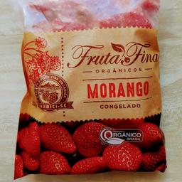 Morango orgânicas fruta fina 550g