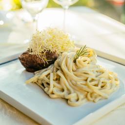 603 Filetto Grigliato con Salsa di Gorgonzola