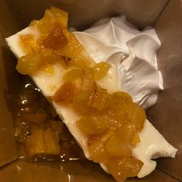 Cheese Cake de Cajú e Espuma de Gengibre