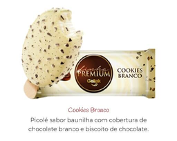 Linha Premium de Cookies Branco