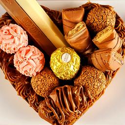 Coração de Chocolate Gourmet Recheado - Chocolapp Supremo 600g