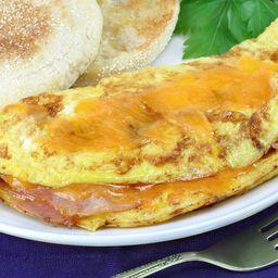 Omelete de Frango com Cheddar