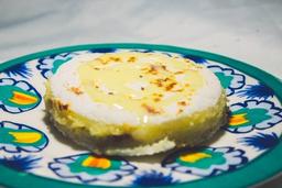 Coco, queijo coalho e leite condensado