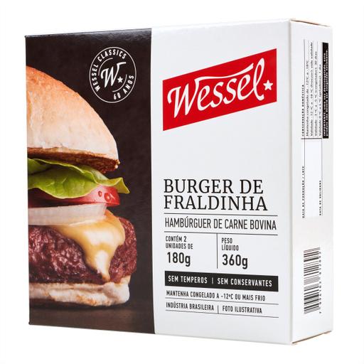 Wessel Hambúrguer Bovino de Fraldinha Caixa