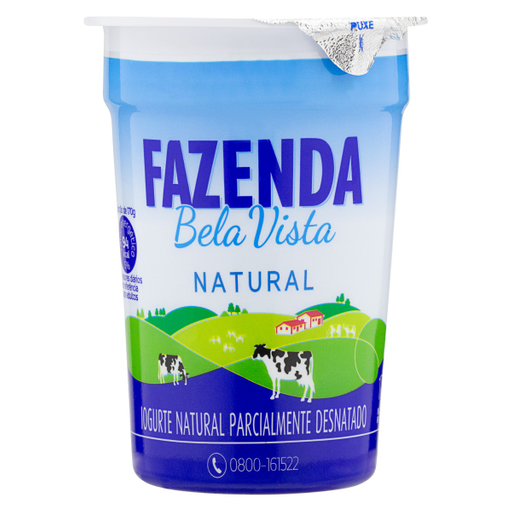Bela Vista Iogurte Fazenda Natural Parcialmente Desnatado