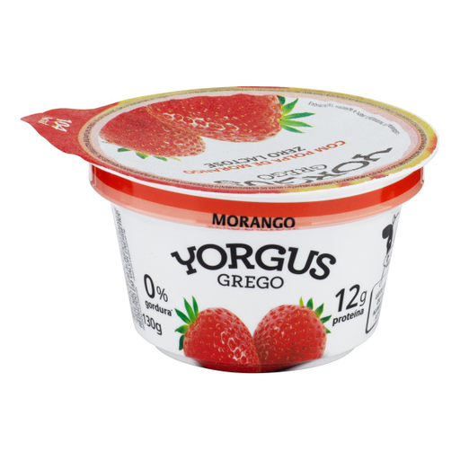 Yorgus Iogurte Desnatado Zero Lactose Grego Morango