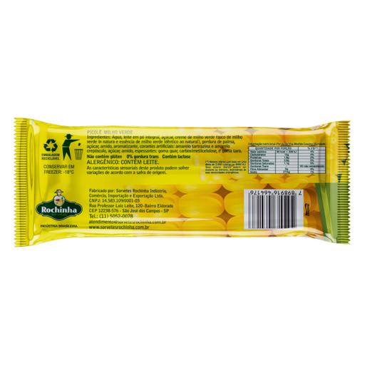 Rochinha Sorvete Picolé Milho Verde