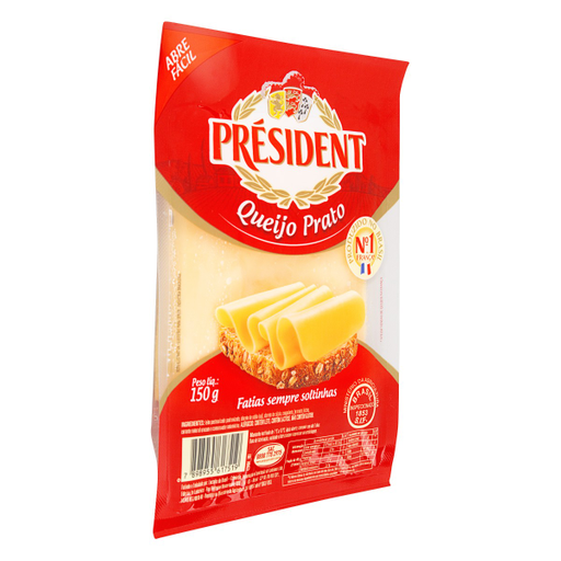 Queijo Prato Fatiado Présidental 150G