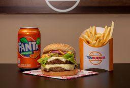R$ 20 - YouBurger com Batata Frita e um Refrigerante - 350ml