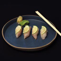 Nigiri peixe branco com limão