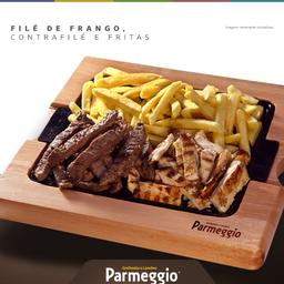 Porção de Contrafilé + Filé de Frango + Fritas