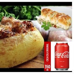 Combo de Batata Calabresa e Pão de Alho
