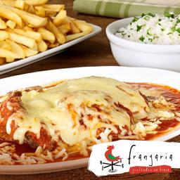 Combo Parmegiana Frangaria + Arroz + Batata Frita