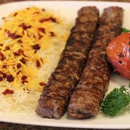 Arroz Persa com  Kebab kafta