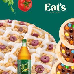 Combo Pizza Frango com Catupiry e 6 Esfihas Doces