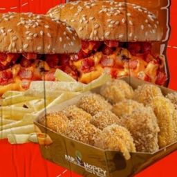 Combo Sobremesa Burger, Batata e Churros