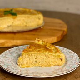 Torta frango com catupiry - fatia