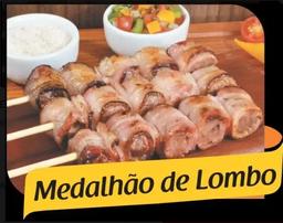 Espetinho Medalhão de Lombo c/Bacon