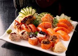 Mix salmão vip 21 peças -ideal 1 pessoa