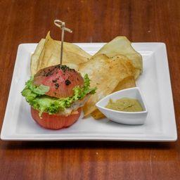 Tomato Hambúrguer de Frango com Gengibre