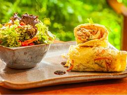 Omelete com Lâminas de Legumes