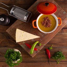 Mandioquinha com Carne Seca (600ml)