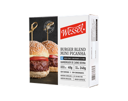 Mini Burger Blend Picanha Wessel 240g (6 unidades)