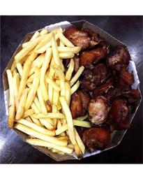 2 porç na caixa pequena frango e batata