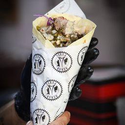 Combo kebab cordeiro + fritas + refri