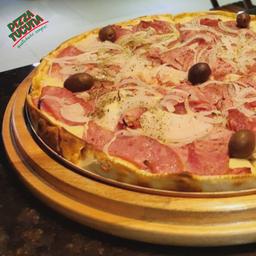 Pizza de Calabresa com Mussarela