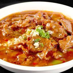 水煮牛肉 Sopa de Carne Bovina Apimentada