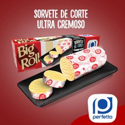 Big Roll Sorvete de Corte Sabor Creme