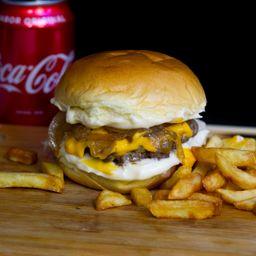 Trio Cheddar Burger