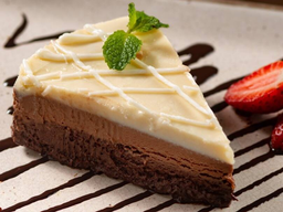 Torta Tre Chocolate - Fatia