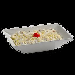 Frango Com Spaguetti Ao Molho Branco, Bacon E Brócolis