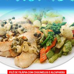 Tilápia com legumes