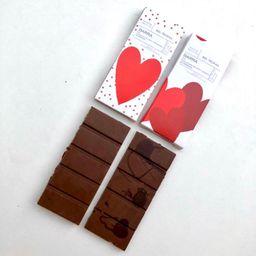 Chocolate ao Leite + Amargo Namorados