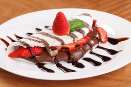 Tapioca de Morango com Nutella