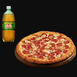 Pizza + guaraná 1l grátis