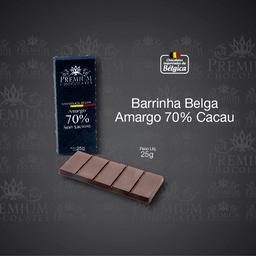 Barrinha Belga Amargo 70% Cacau - 25g