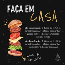 Kit Faça em Casa: Cheeseburger  4 Unidades