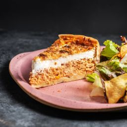 Torta de Frango com Cream Cheese - Fatia